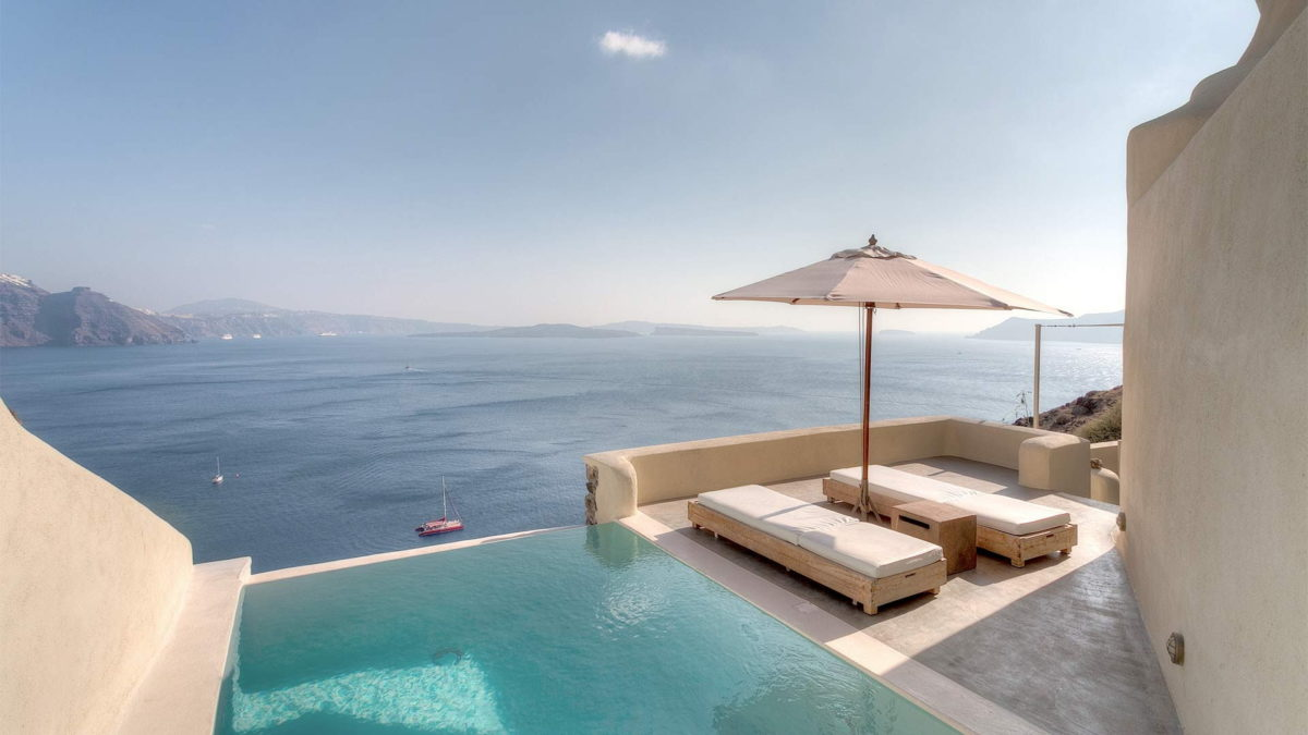 Mystique, a Luxury Collection Resort ( Santorini ):  Stay 4 nights, Pay for 3 nights!