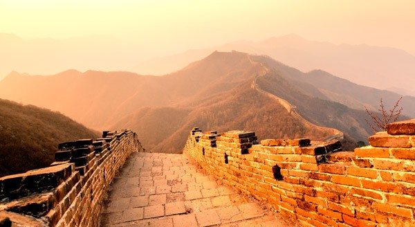 Great Wall of China sunrise