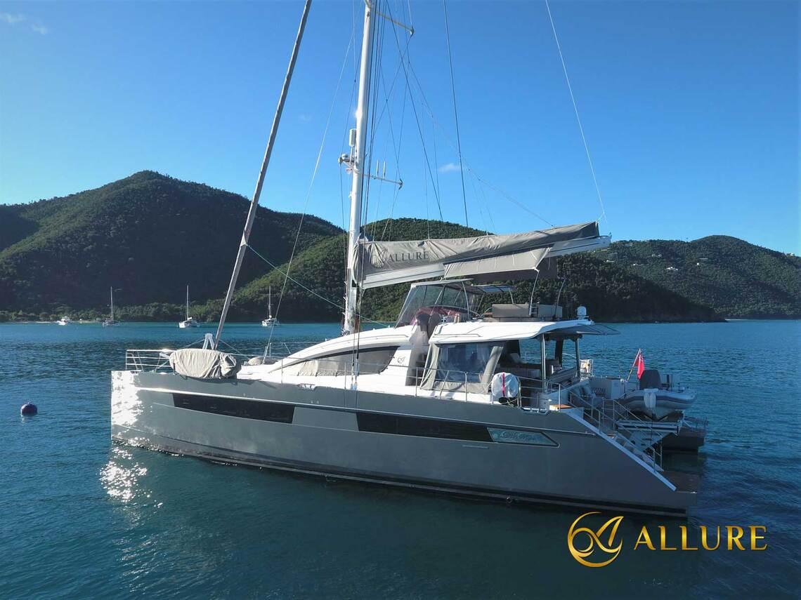 Luxury crewed catamaran Allure in the Caribbean