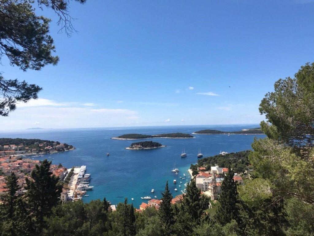 European Yacht Charters Hvar Harbor on the island of Hvar in Central Dalmatia Croatia.